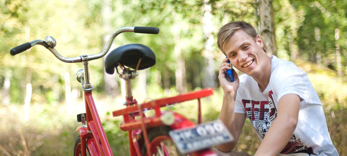 Tingsryd man på cykel